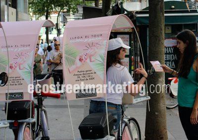 Publicidad dinámica en bicicleta y segway