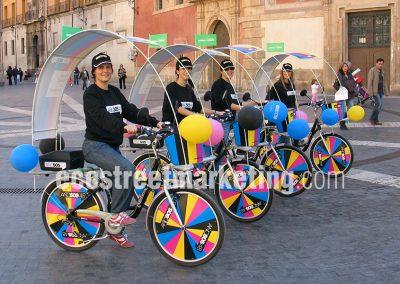 Campañas de publicidad con bicicletas en España