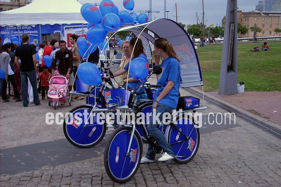 Campaña de publicidad bicicletas y segway en Barcelona