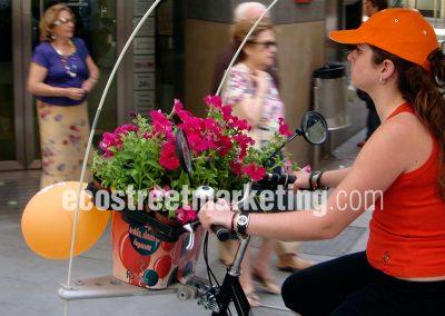 Merchandising original en Bicicletas publicitarias
