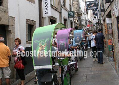 Publicidad en bicicletas en Santiago