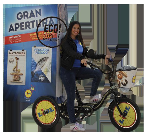 Publicidad llamativa en Madrid street marketing