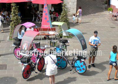 Publicidad con bicicletas en Bilbao