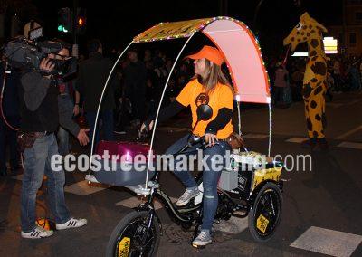 Publicidad con triciclos en Barcelona