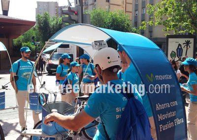 Publicidad con bicicletas en Madrid