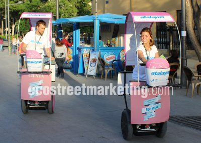 Segway publicidad efecitiva street marketing Madrid
