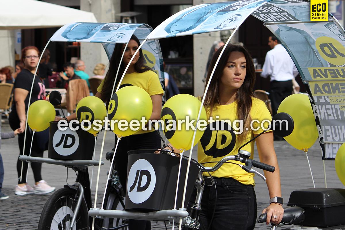 Eco Street Marketing Bicicletas publicidad no convencional en Barcelona