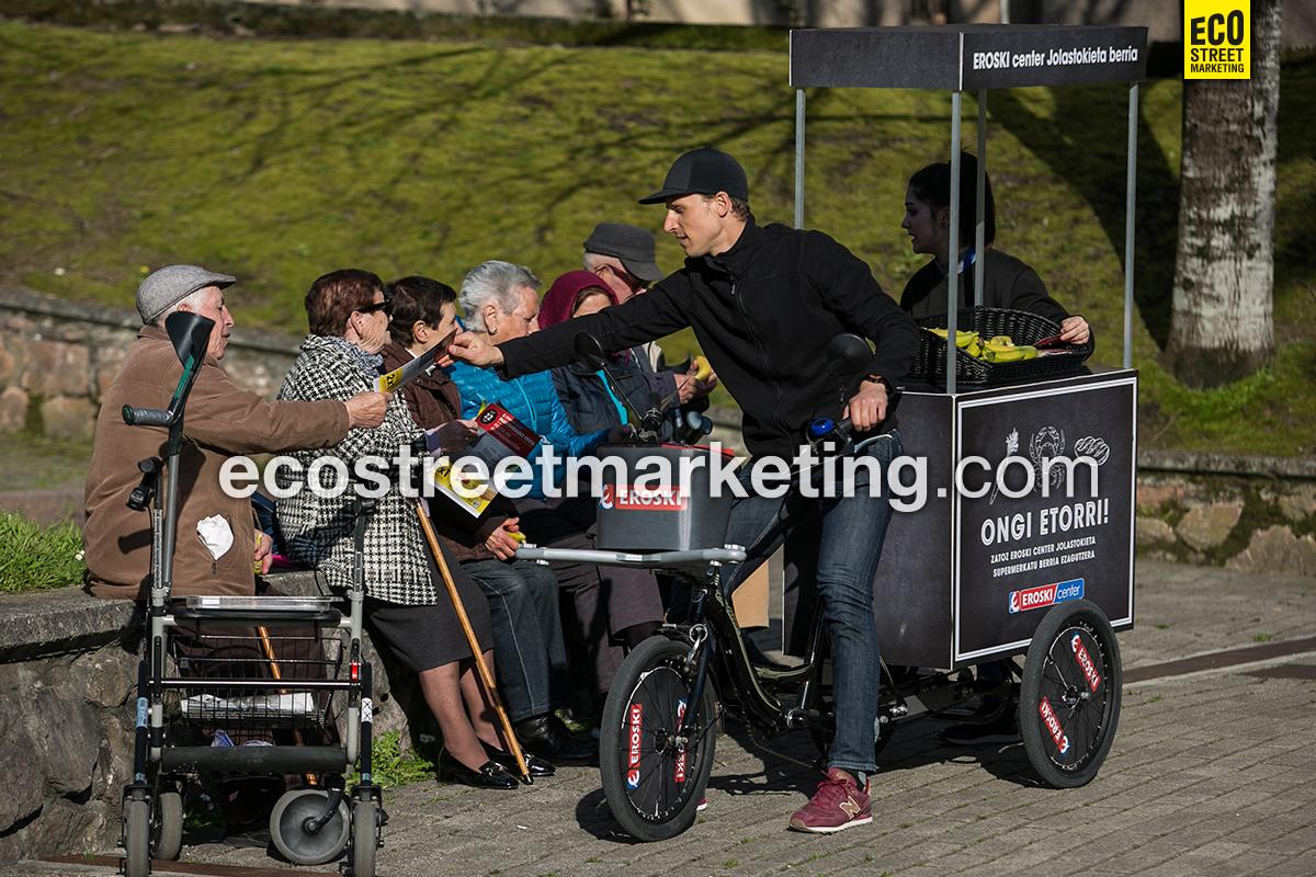 Eco Street Marketing Foodbike sampling activación marca