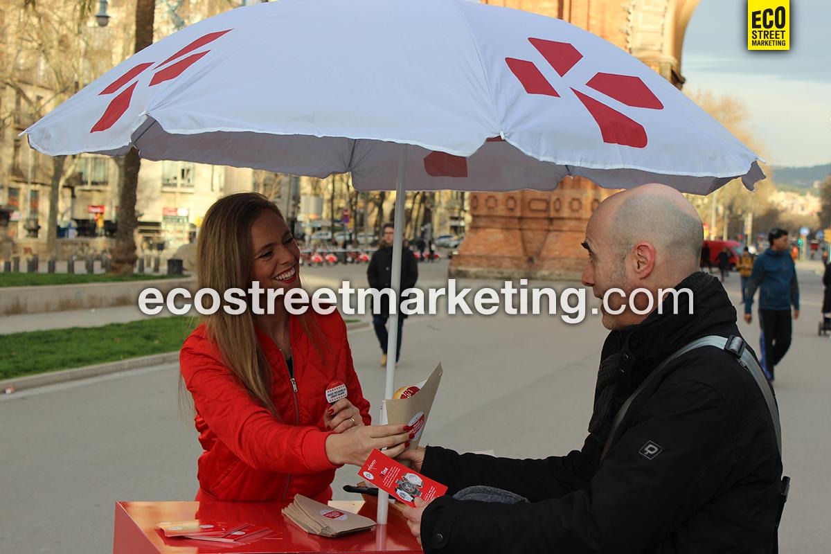 Eco Street Marketing Foodbike Sampling alimentación publicidad original