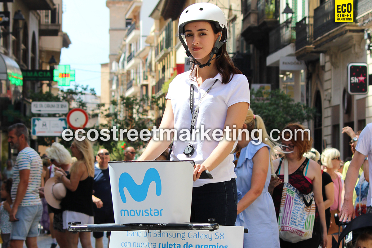 Eco Street Marketing segway promotores publicidad dinámica