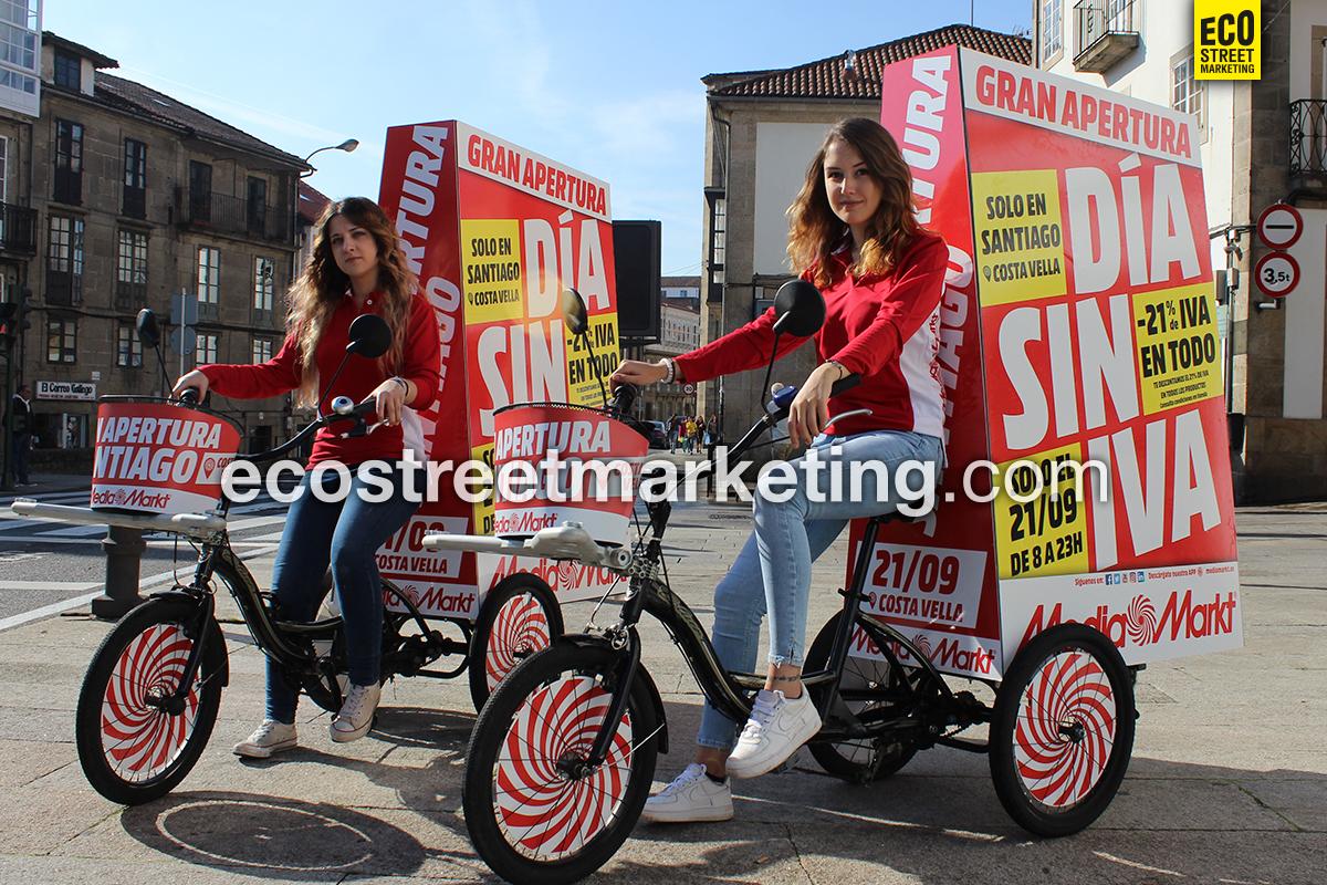 Eco Street Marketing promoción mediamarkt en Madrid